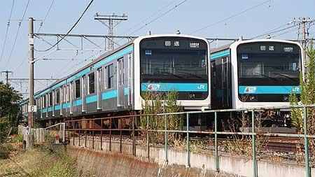 ウラ56編成,北長野駅構内に留置される