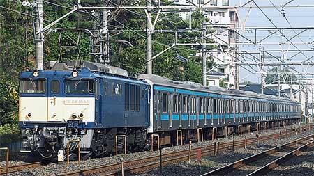 ウラ57編成,長野総合車両センターへ配給輸送