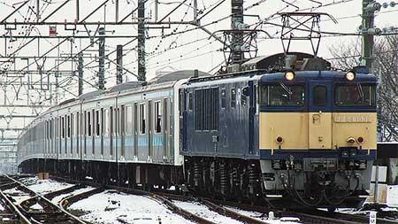 ウラ64編成,長野総合車両センターへ配給輸送