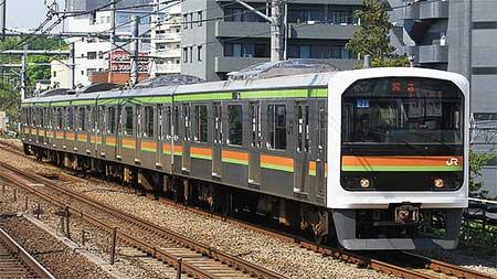 209系3100番台71編成が東京総合車両センターに入場