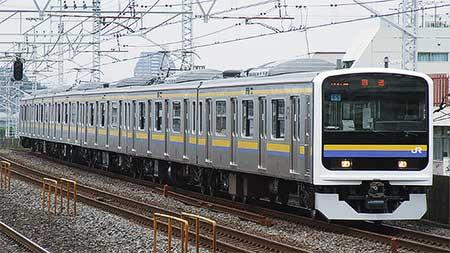 209系2100番台6両が東京総合車両センターから出場