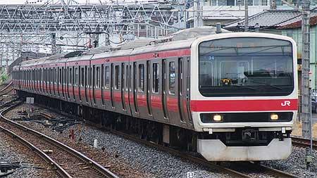 209系500番台ケヨ34編成が東京総合車両センターへ入場