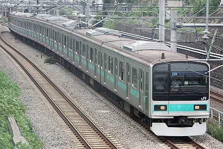 209系1000番台マト82編成が東京総合車両センターから出場