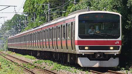 209系500番台ケヨ32編成が東京総合車両センターへ