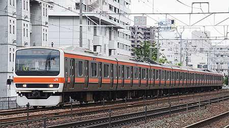 武蔵野線色となった209系500番台が試運転