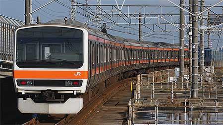 武蔵野線色となった209系500番台が京葉車両センターへ