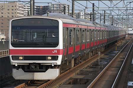 209系ケヨ31編成が東京総合車両センターから出場