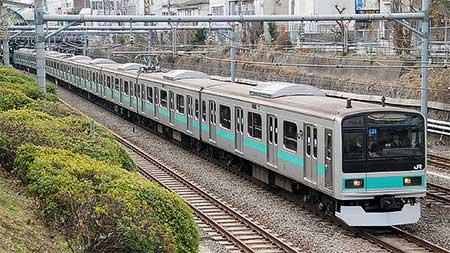 209系1000番台マト81編成が東京総合車両センターから出場