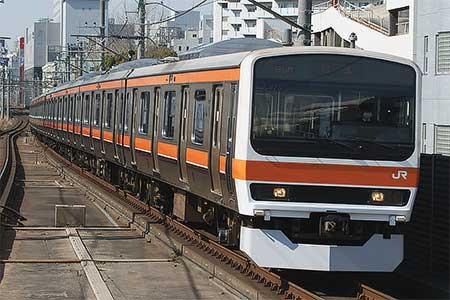 209系500番台M73編成が東京総合車両センターから出場