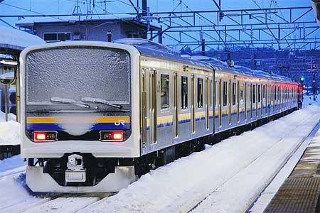 209系2100番台6両が秋田総合車両センターから出場