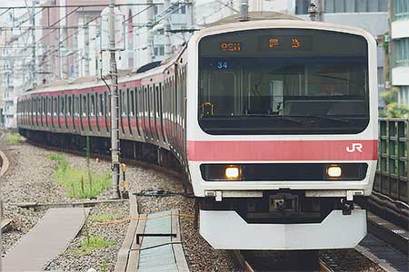 209系500番台ケヨ34編成が東京総合車両センターへ