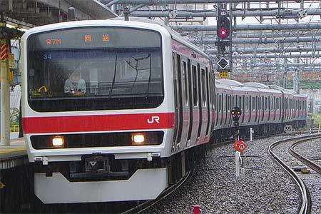 209系500番台ケヨ34編成が東京総合車両センターから出場