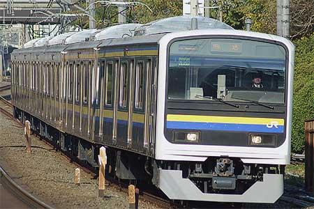 209系2100番台マリC606編成が大宮総合車両センターから出場