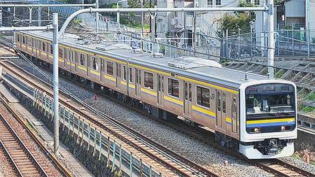209系2100番台マリC402編成が大宮総合車両センターから出場