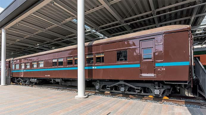 京都鉄道博物館で,寝台客車「マロネフ59-1」の車内公開