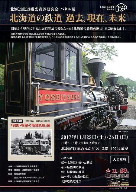 北海道庁赤れんが庁舎でパネル展「北海道の鉄道 過去、現在、未来」開催