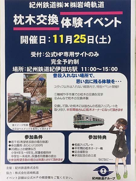 紀州鉄道×岩崎軌道「枕木交換体験イベント」開催