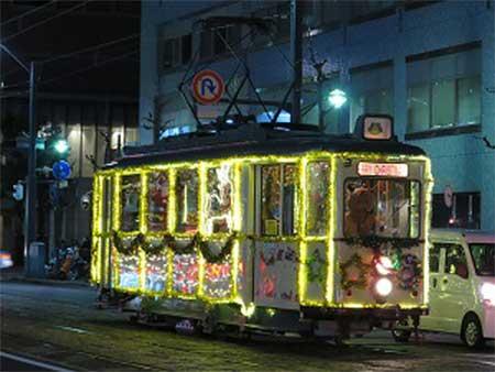 広島電鉄「クリスマス電車企画」を実施