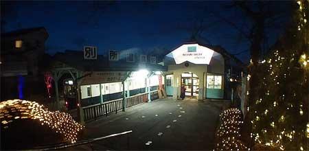 上田電鉄,上田市都市景観賞受賞記念で別所温泉駅をライトアップ