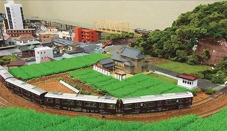 鉄道ジオラマ展示