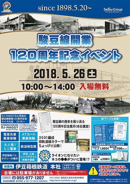 伊豆箱根鉄道「駿豆線開業120周年記念イベント」開催