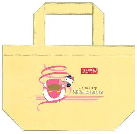 「ハローキティ新幹線イラスト入りオリジナルトートバッグ」のイメージ