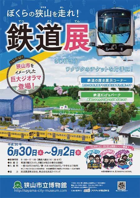 狭山市立博物館で企画展「ぼくらの狭山を走れ!鉄道展」開催