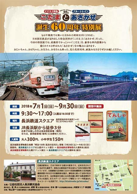 長浜鉄道スクエアで「ビジネス特急こだまとブルートレインあさかぜ誕生60周年特別展」開催