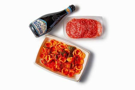 「出張お疲れ弁」の一例「Grazie!Deli&ビールセット」