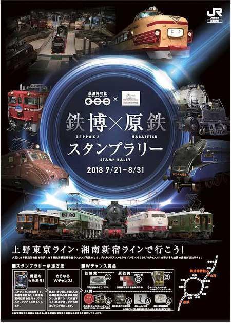 JR東日本「鉄博×原鉄 スタンプラリー」開催