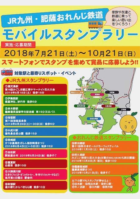 「JR九州・肥薩おれんじ鉄道モバイルラリー」実施