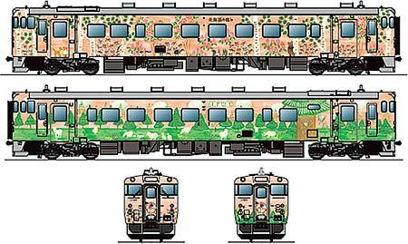 岩見沢駅でキハ40 1780「道央 花の恵み」を公開