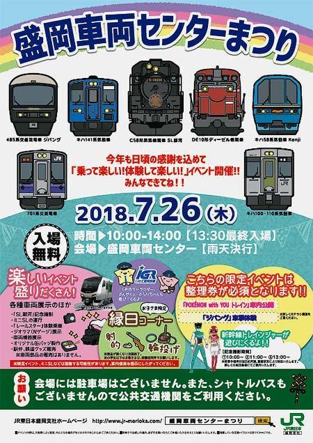 JR東日本「盛岡車両センターまつり」開催
