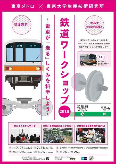東京メトロ・東京大学生産技術研究所「鉄道ワークショップ2018」開催