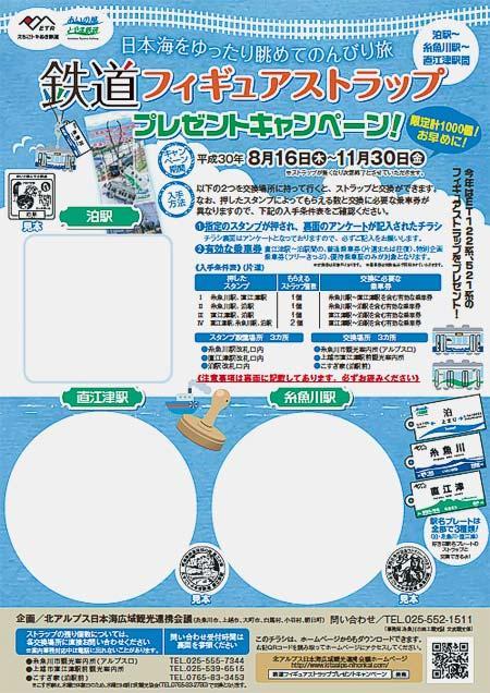 えちごトキめき鉄道・あいの風とやま鉄道「鉄道フィギュアストラップ プレゼントキャンペーン!」開催