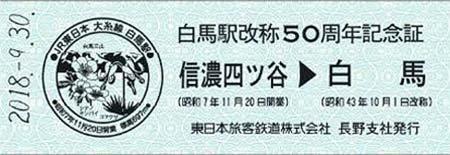 「白馬駅改称50周年記念イベント」開催