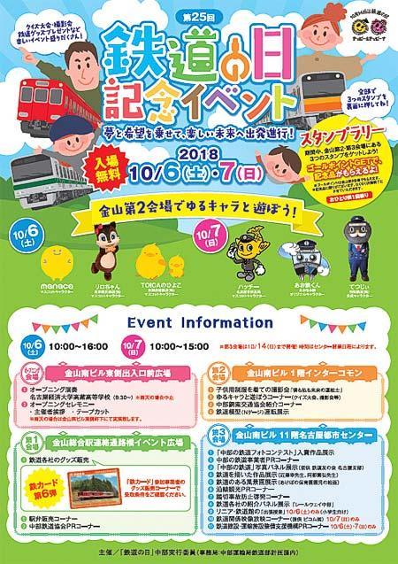 中部運輸局「第25回鉄道の日記念イベント」開催