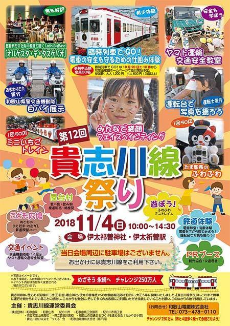 和歌山電鐵「第12回 貴志川線祭り」開催