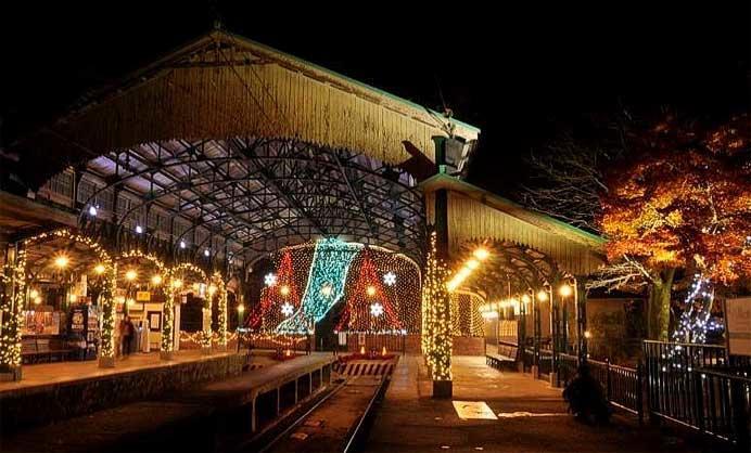 叡電,八瀬比叡山口駅でイルミネーション企画「Illumi-station(イルミステーション)」を開催