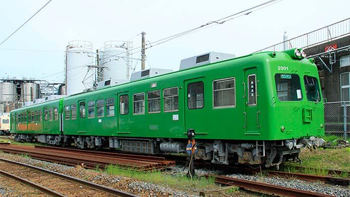 銚子電鉄外川駅で『「さようならグリーン車両」写真展』を開催