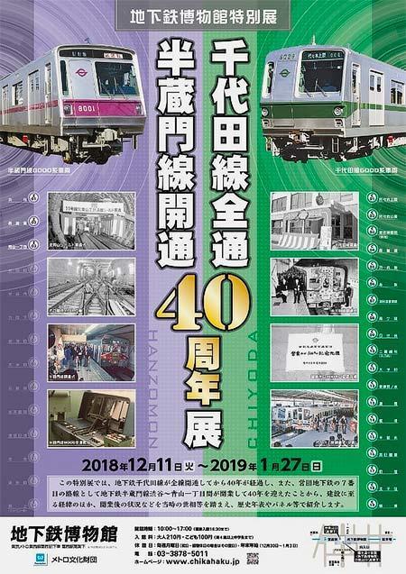 地下鉄博物館で特別展「千代田線全通・半蔵門線開通40周年展」開催