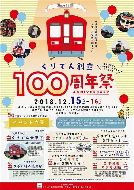 くりはら田園鉄道公園で「くりでん創立100周年祭」開催