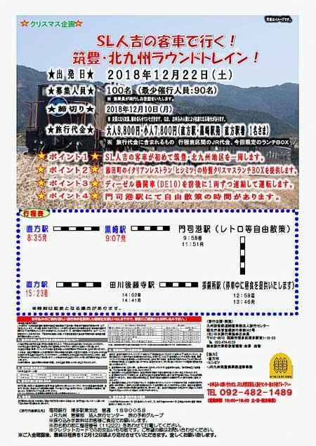 JR九州「筑豊・北九州ラウンドトレイン」運転
