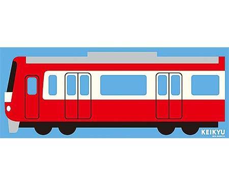 賞品の京急電車デザイン「特大ブランケット」のイメージ