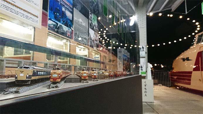 鉄道博物館で,昭和43年10月の上野駅をテーマにしたNゲージ鉄道模型を展示