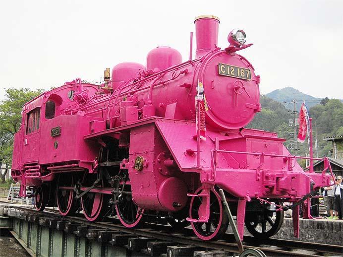 若桜駅で「若桜の春色まつり〜ピンクのSLとともに〜」開催