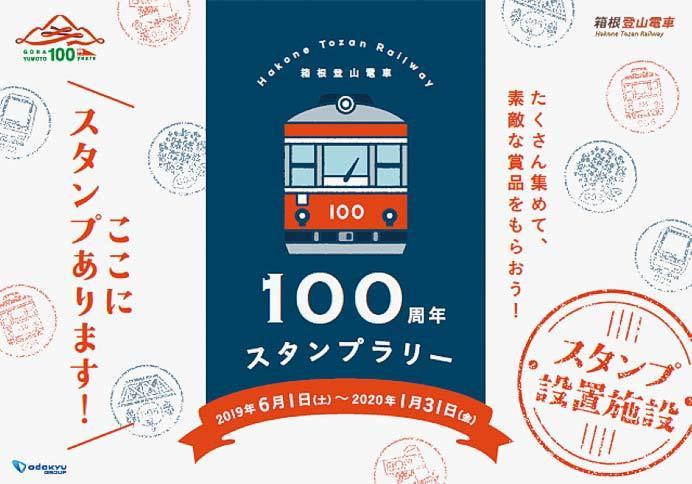 「箱根登山電車100周年スタンプラリー」開催