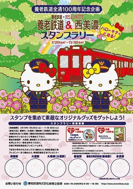 『「養老鉄道×HELLO KITTY」スタンプラリー』開催