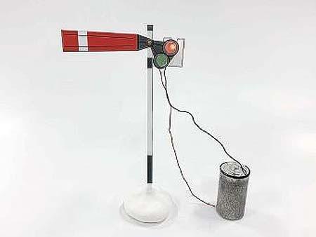 京都鉄道博物館,夏のサイエンス工作「手作り乾電池で昔の信号機を作ろう!」