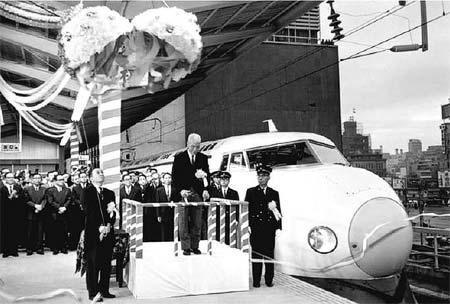 東海道新幹線出発式のようす